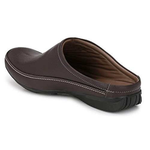 Andrew Scott Brown Synthetic Leather Casual Mule