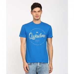 Quiksilver Printed Men's Round Neck Blue T-Shirt