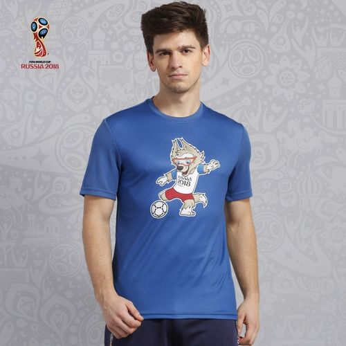 FIFA Printed Men's Round Neck Blue T-Shirt