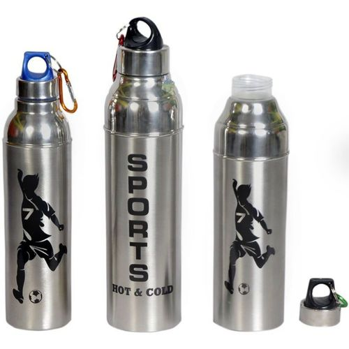 Sukot 3 PCs Stainless Steel Insulated Hot & Cold Water Bottle Sipper Flask Water Bottle 500 ml Bottle(Pack of 3, Silver)