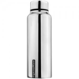 Signoraware Aqua Stainless Steel Water Bottle, 500ml/30mm, Mirror Silver 500 ml Bottle(Pack of 1, Silver)