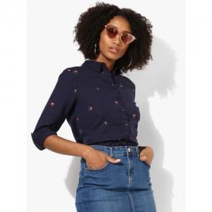 DOROTHY PERKINS Navy Blue Printed Shirt