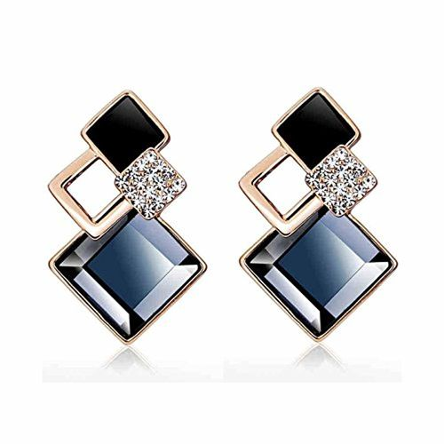 Shining Diva Fashion Copper Italian Designer Collection Drop Earrings for Women (Blue)(rrsd9690er)