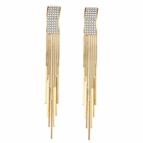 Shining Diva Fashion Italian Designer Collection Gold Plated Drop Earrings for Women (Golden)(9751er)