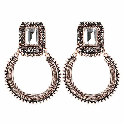 Shining Diva Fashion Jewelry Jewellery Stylish Fancy Party Wear Traditional Earrings for Women & Girls(Golden)(8715er)