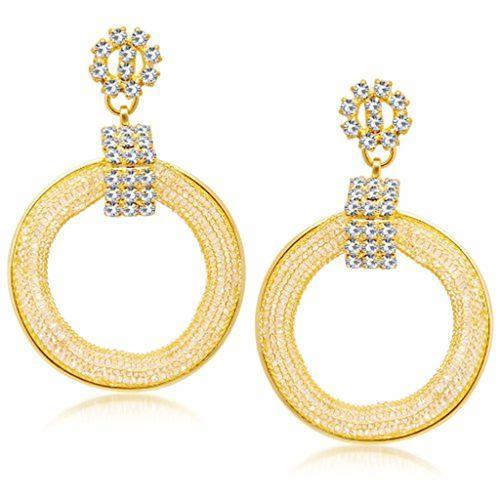 Sukkhi Drop Earrings for Women (Golden) (6872EADI500)