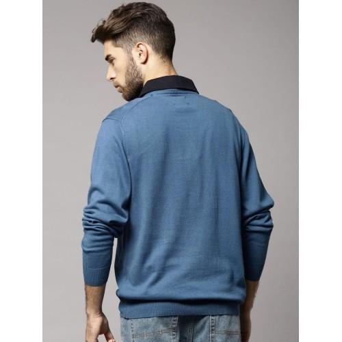 Buy Marks Spencer Solid V Neck Casual Mens Sweater Online