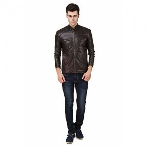 Leather Retail Teakwood Faux Leather Jacket