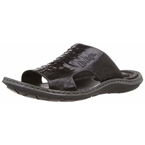 38531f72798 Buy Lee Cooper Men s Leather Flip Flops Thong Sandals online ...