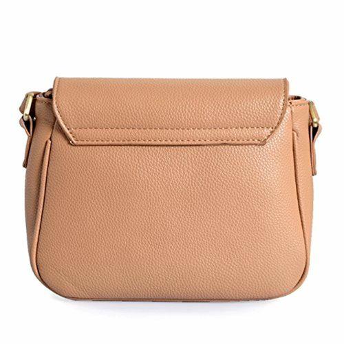 Lino Perros Beige Leatherette Sling Bag