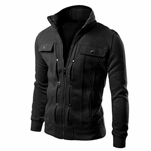 diandianshop Coat for Men Top Fashion Mens Slim Designed Lapel Cardigan Coat Jacket