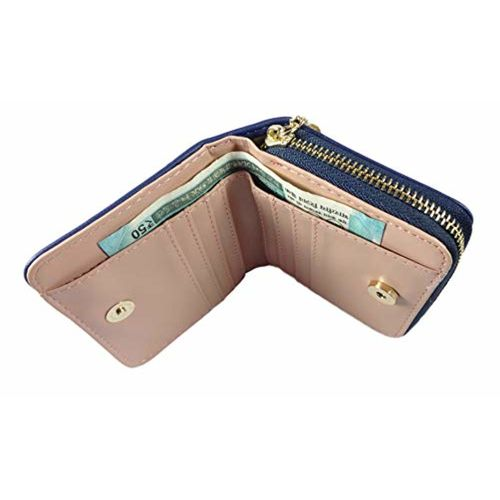 Surbhi Mini Short Small Size Wallets for Women | Wallets for girls | Credit Card Holder | Coin Purse Secure Card Case/Gift | zipper with tassel detailing | cute