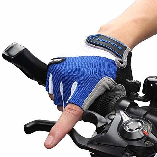 asiproper Cycling Bicycle Bike Sports Anti-Slip Men Women Breathable Half Finger Gloves