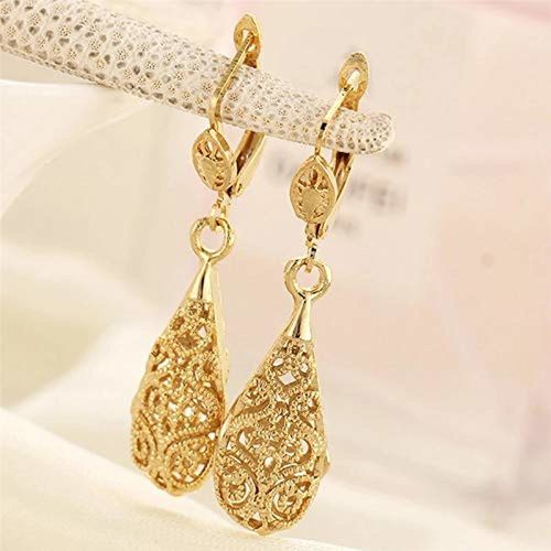 Shining Diva Fashion AAA High Quality 18k Gold Silver Plated Stylish Earrings For Women and Girls