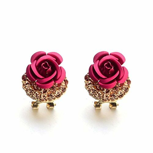 Shining Diva Fashion AAA High Quality Gold Plated Floral Stylish Fancy Party Wear Earrings For Women & Girls