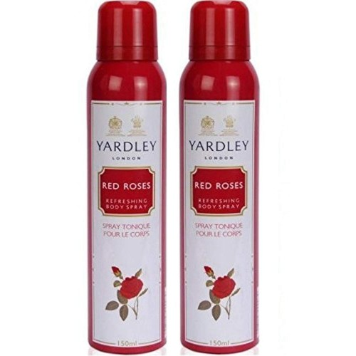 Yardley Red Roses Deo Spray,150ml (Pack of 2)