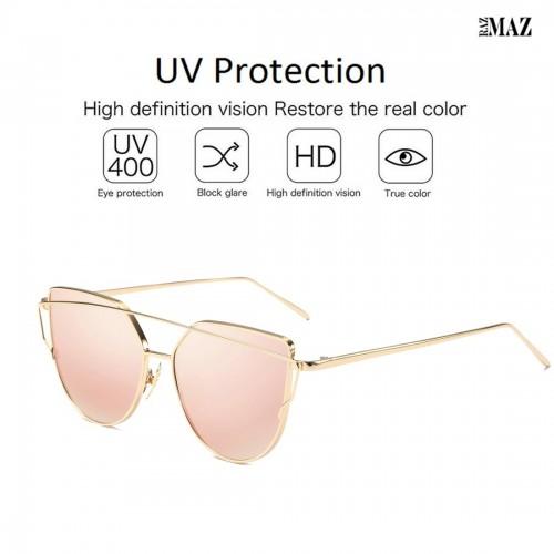 RazMaz Cat Eye Mirrored Vintage Fashion Stylish Women Sunglasses