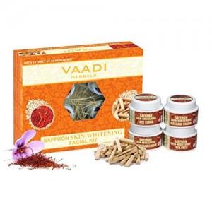 VAADI HERBALS Vaadi Herbals Saffron Skin Whitening Facial Kit with Sandalwood Extract, 70g