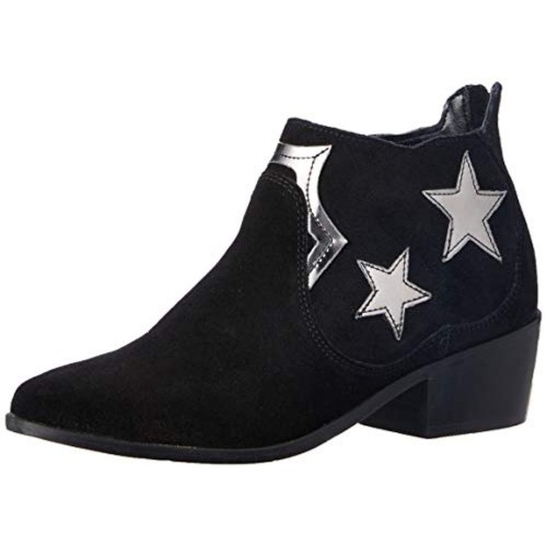 Carlton London Black Leather High Ankle Boots