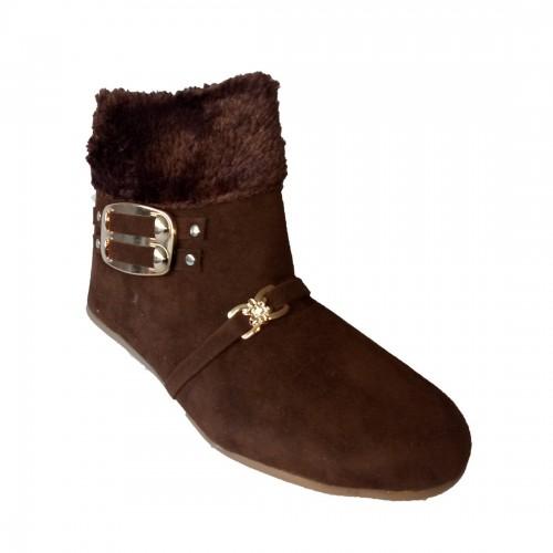Walk Street Brown Nubuck Chelsea Boots