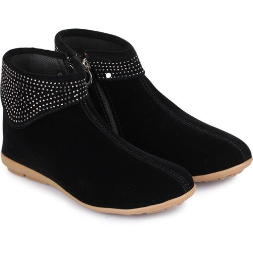 Shezone Boots For Women(Black)