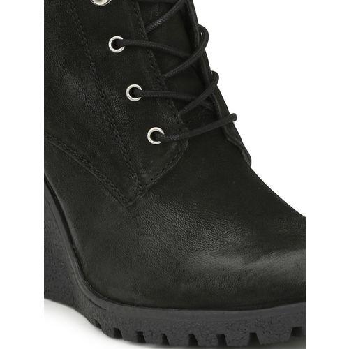 Alberto Torresi Women Black Leather Heeled Boots