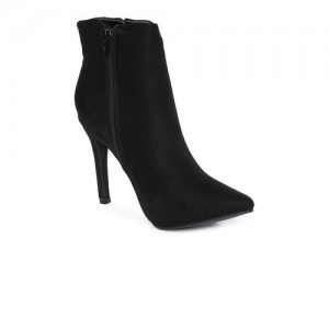 Catwalk Women Black Solid Heeled Boots