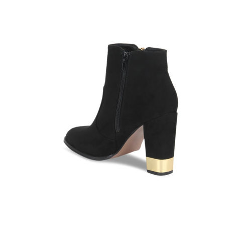 Truffle Collection Women Black Solid Heeled Boots