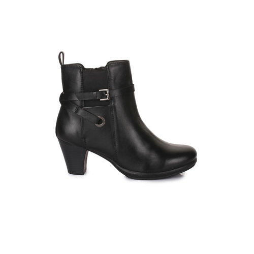 Bruno Manetti Women Black Solid Heeled Boots