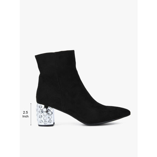 Carlton London Black Heels Boots