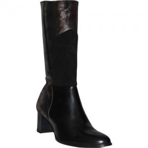 Salt N Pepper 17-471 BLACK FUMO SUEDE BOOTS Boots For Women(Black)