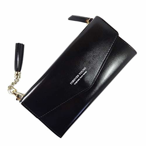 Surbhi SURBHI Women's Large Capacity Soft Leather Wallet with Zipper Pocket Card Wallets Wallets for Women Wallets for Girls New Designer Clutch Spacious Wallet