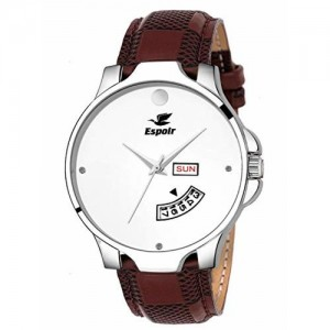 Espoir Analog White Dial Day and Date Boy's and Men's Watch - CheckWhiteMovado