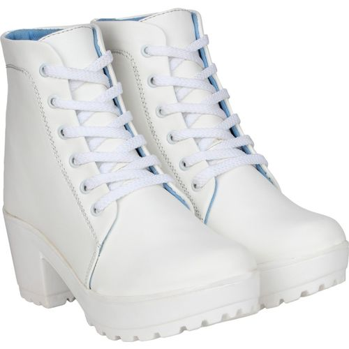 QUICK STEP BOOTS Boots For Women(White)