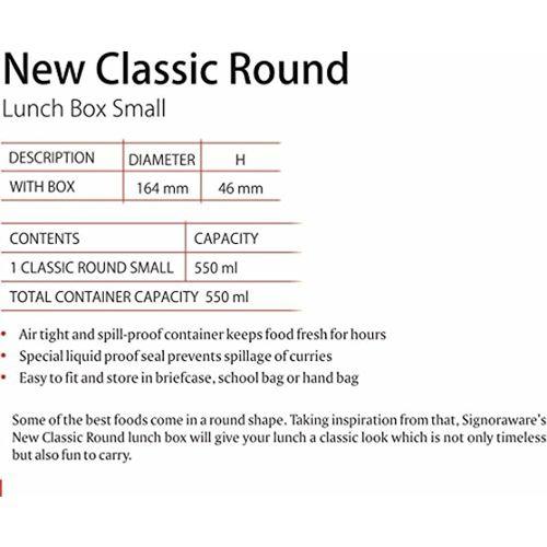 Signoraware Classic Round Lunch Box Set and Conatiner