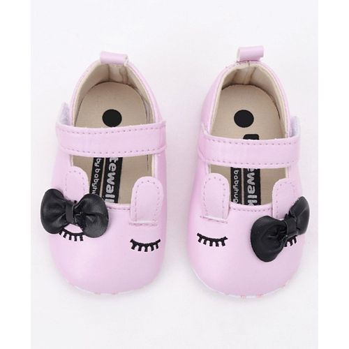 Cute Walk by Babyhug Booties Bunny Design - Light Pink