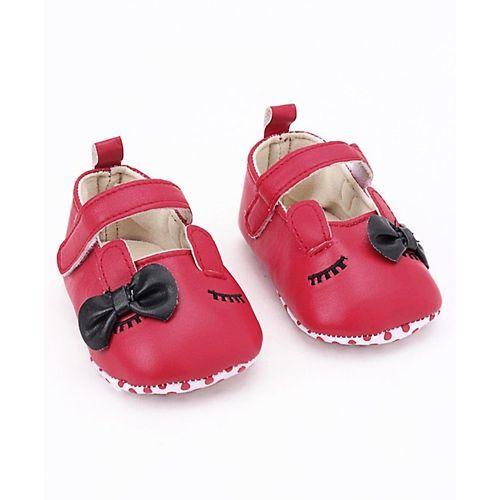 Cute Walk by Babyhug Booties Bunny Design - Dark Pink