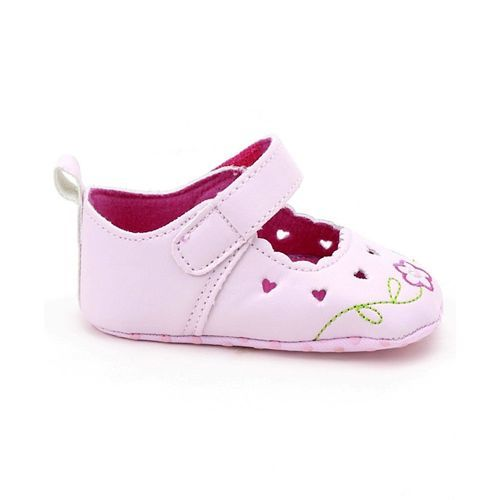 Cute Walk by Babyhug Booties Flower Embroidery - Pink