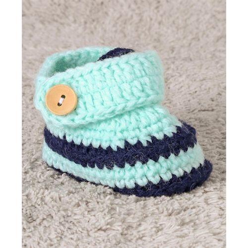 Cute Walk by Babyhug Winter Wear Booties - Sea Green