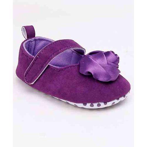 Cute Walk by Babyhug Booties Rose Applique - Purple