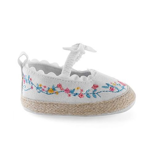 Cute Walk by Babyhug Cute Walk By Babyhug Booties Floral Embroidery - White