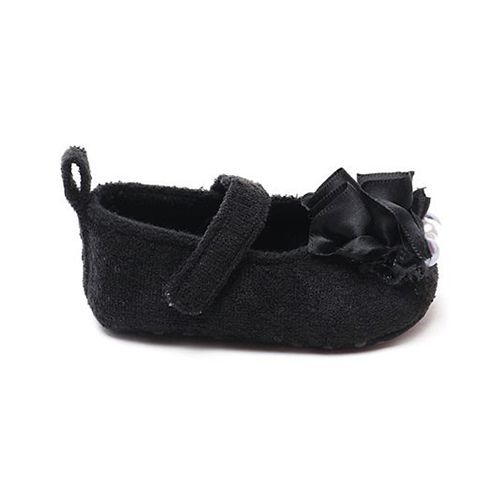 Cute Walk by Babyhug Booties Pearl Motif - Black