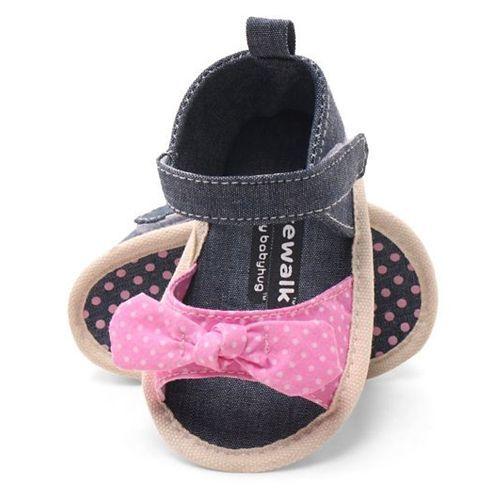 Cute Walk by Babyhug Booties Velcro Closure Bow Applique - Blue Pink