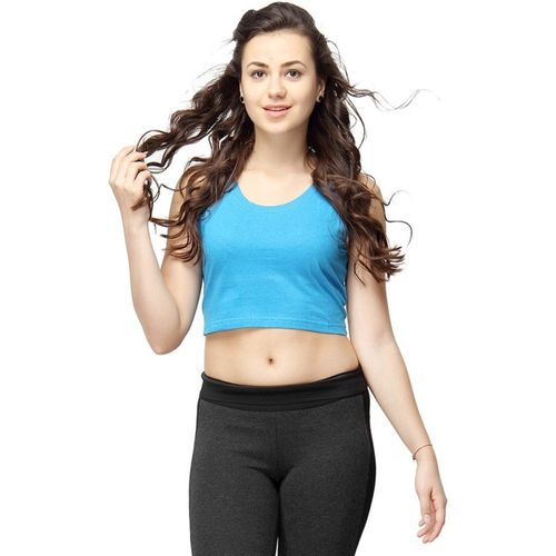 Campus Sutra Casual Sleeveless Solid Women's Dark Blue Top