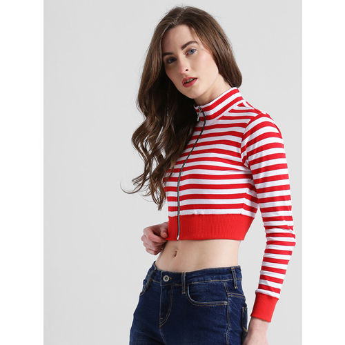 0b6c3af2a9de4 Buy Texco Red Striped Crop Top online
