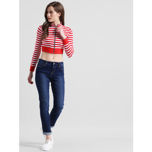 Texco Red Striped Crop Top