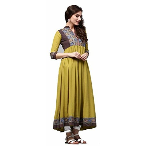 Rain & Rainbow Rain and Rainbow Women's Straight Rayon Kurta