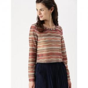 DressBerry Women Multicoloured Striped Top