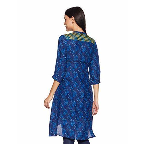 Rangriti Women's Asymmetrical Hemline Kurta