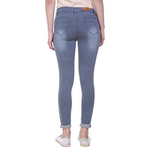 Pantoff Grey Denim Ripped Slim Fit Jeans